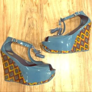 Melissa Jelly T Strap Wedges